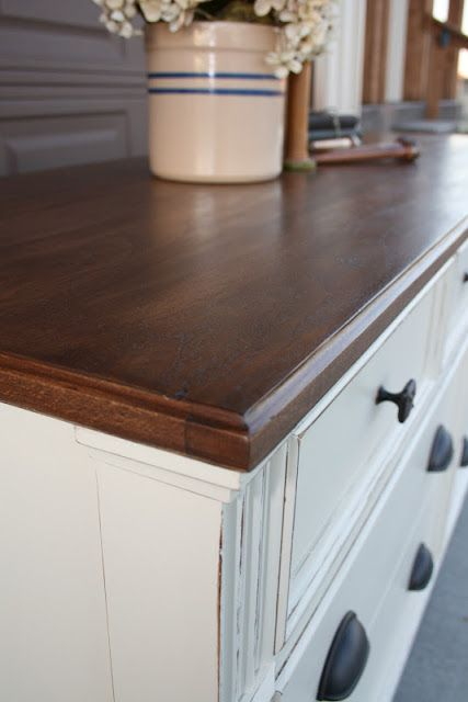 white dresser wood top