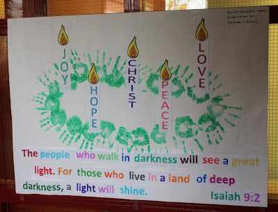 Handprint Advent craft for kids - advent candles, Advent Sunday, Christmas