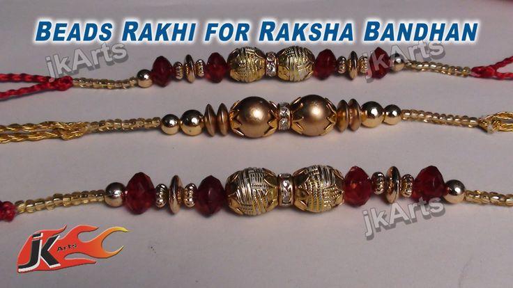 DIY Beads Rakhi Making for Raksha Bandhan - JK Arts 332