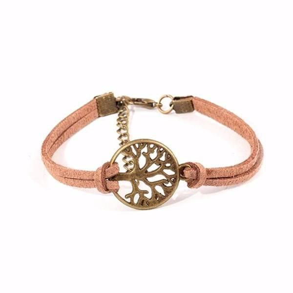 Vintage Tree of Life Suede Leather Cord Bracelet [5 Variations]