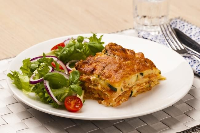 Grønnsaks-lasagne