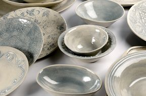I think I have every bowl and platter in this picture from Wonki Ware. I love them!