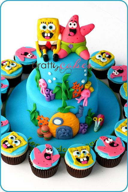 Spongebob & Patrick Tower by Natty-Cakes (Natalie), via Flickr  for my next bday party! :)