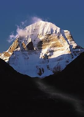 My favorite mountain.... Circling it's base is on my bucket list. In the Tibetan region of the Himalayas... Mt. Kailash
