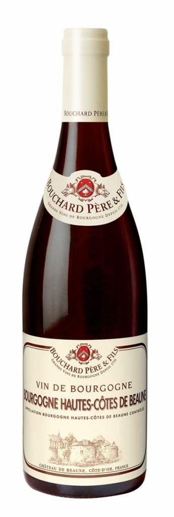 Bouchard Pere & Fils, Bourgogne Hautes-Côtes de Beaune AOC 2012. - Typische 'boerse' Pinot Noir van het bekende Bouchard. Rood fruit als kers en in de mond fris droog door de fijne zuren. Lichte tannines maken van deze wijn een alleskunner. Voelt zich het prettigst bij circa 16 graden, dus iets koelen graag.