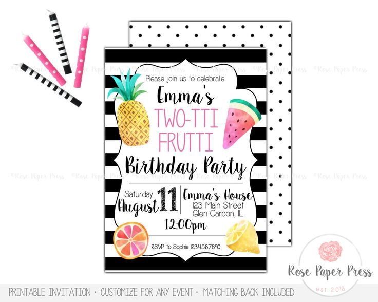 Best Birthday Party Invitations Images On Pinterest Digital - Black and white striped birthday invitations