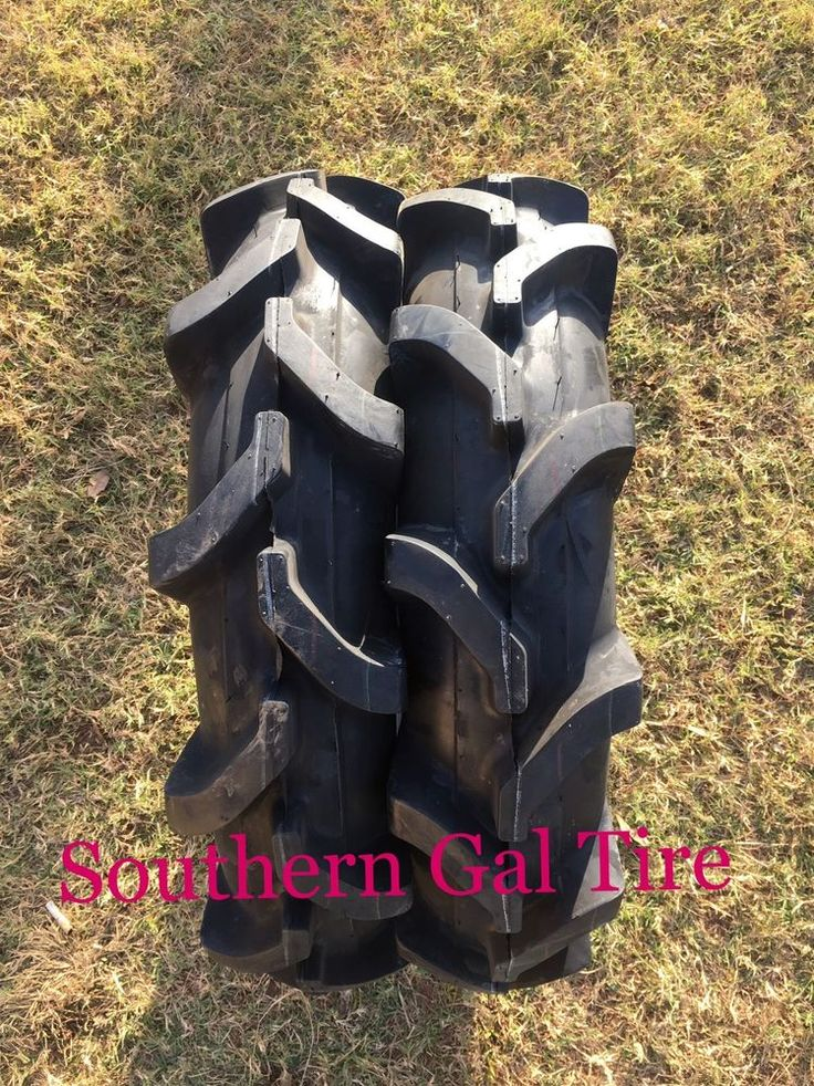 TWO 7-16 Deestone Compact Tractor Tire Farm AG R-1 Lug 6 PLY D413 7x16 716
