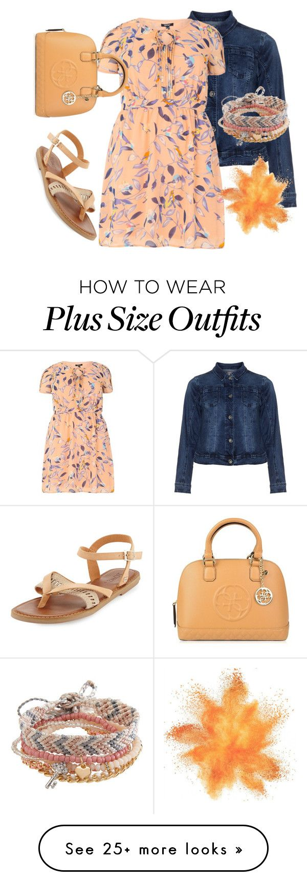 """Plus size"" by sanela-enter on Polyvore featuring Zizzi, Samya, TOMS, GUESS and Aéropostale"