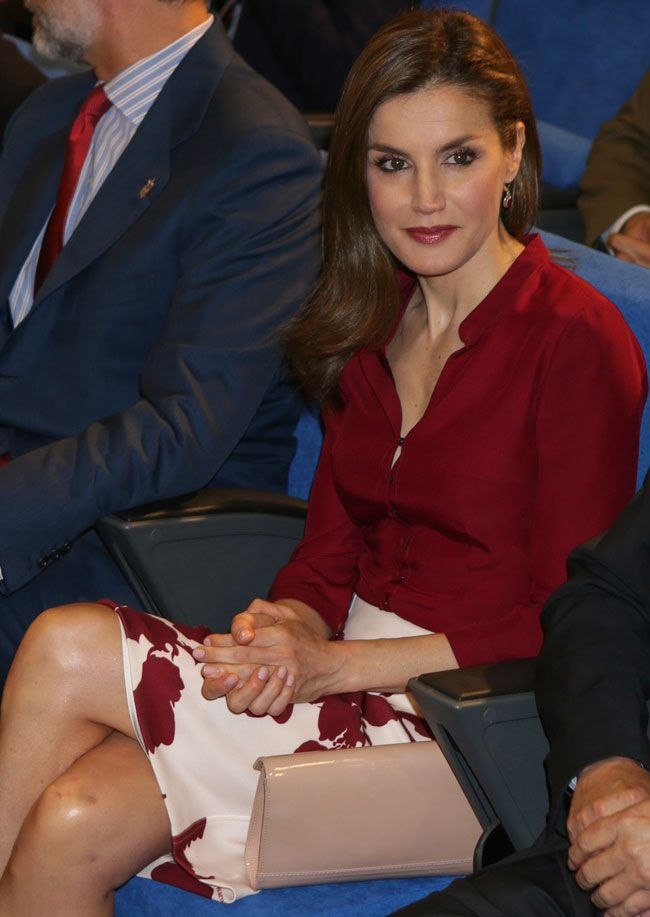 Queen Letizia of Spain attends the 25th anniversary of National Center of Food Safety and Tecnology (CNTA) on June 6, 2017 in San Adrian, Spain.