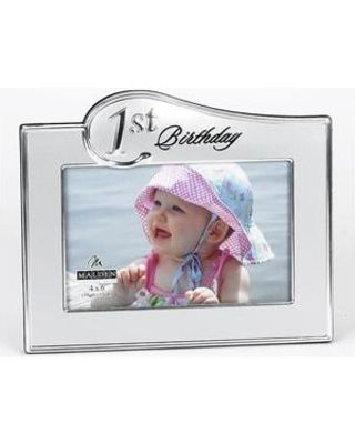 Malden Malden 1st Birthday Photo Frame - 4x6 Silver from Boscov's | BHG.com Shop