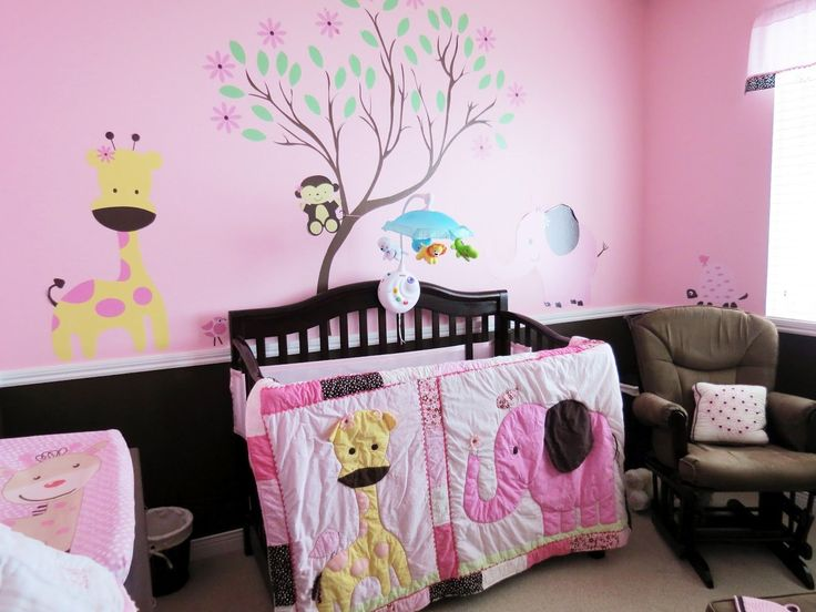 Related Nursery Room Designs Cute Pink Baby Girl Design For Beautiful And Cute Baby Nursery Decor