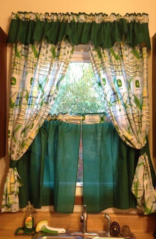 John Deere Kitchen Curtains