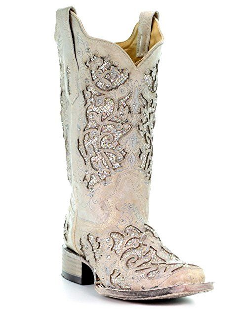 06791f8ed25 Corral Wedding Boots CORRAL Women's White Cross and Wings Snip Toe Cowgirl  Boots A3571 Leather Imported Leather sole Shaft measures approximately 13  inches ...
