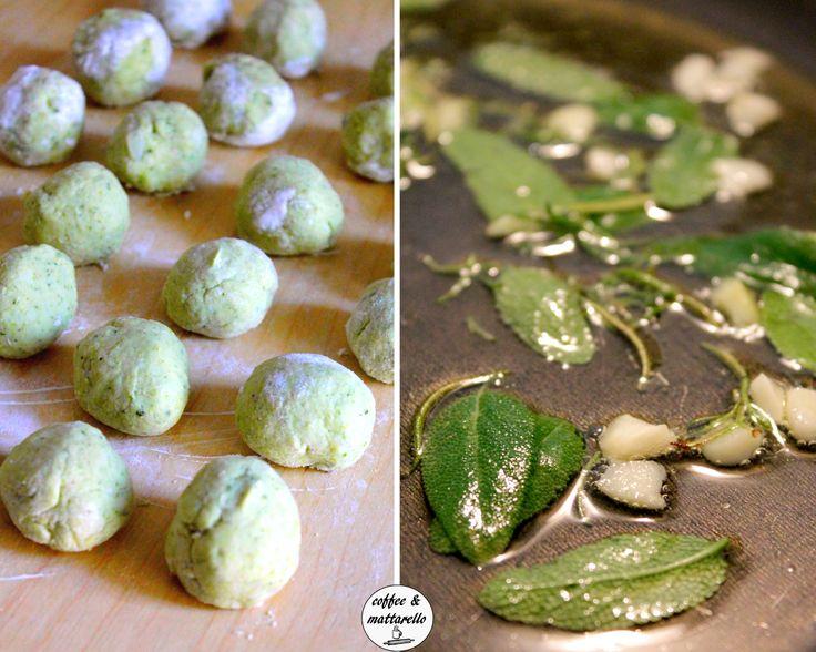 Gnocchi di broccoli ripieni di fontina al profumo di salvia