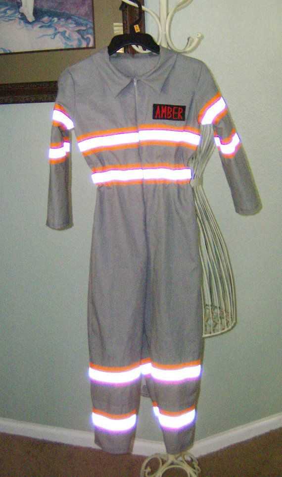 Stripe Style Kids Ghostbusters Costume Ghostbuster Uniform Jumpsuit ONLY…