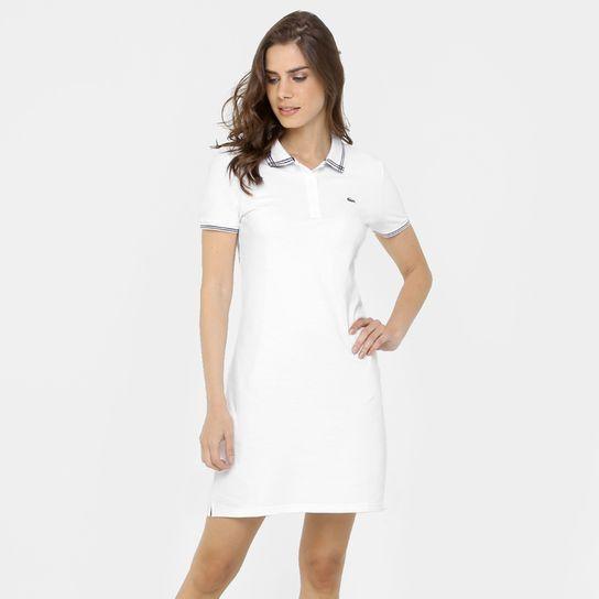 Vestido Lacoste - Branco+Preto
