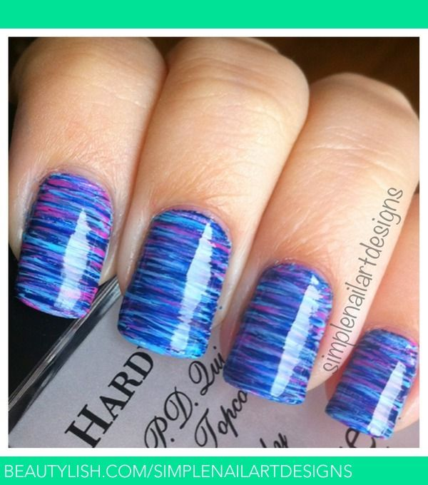 Fan Brush Striped Nails | simplenailartdesigns