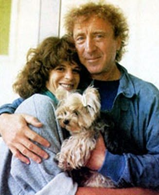 Gilda Radner, Gene Wilder and furry friend.