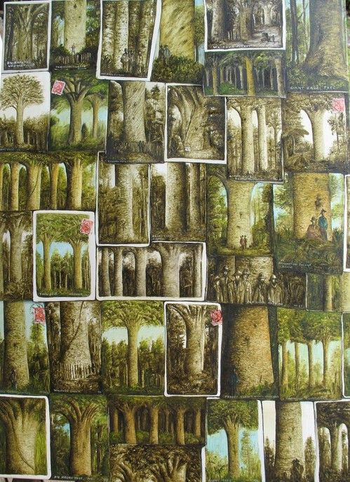 'From a Kauri forest' Oil on canvas, 2014. 610 x840mm.