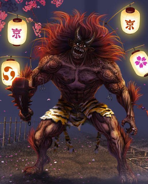 A Mitologia Japonesa Os Onis são criaturas da mitologia japonesa. O termo Oni pode ser interpretado como Demônio ou Ogro, pois no termo Oni muitas entidades japonesas podem estar presentes. Onis são criaturas muito populares na literatura, arte, teatro mas principalmente nos animes e mangás.