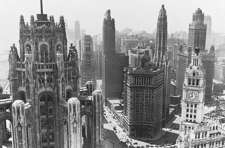 Vintage Chicago Skyline Photograph  - Vintage Chicago Skyline Fine Art Print