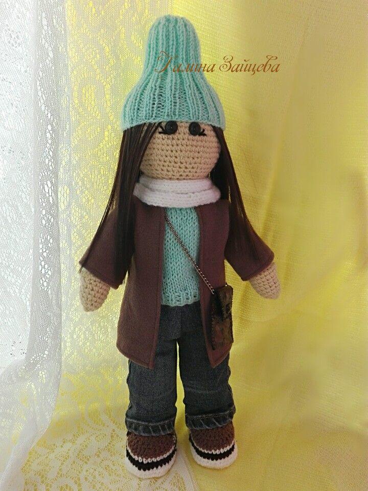 Кукла крючком, стиляга 50 см))текстильная кукла, купить куклу  #куклыинтерьерные #куклыкрючком