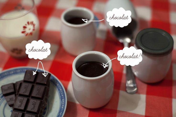 Small chocolate creams, or the chocolate bouillie of my Grandma ©