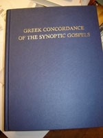 A Comparative Greek Concordance of the Synoptic Gospels / Collocator and Compiler Elmar Camillo Dos Santos / Printed in Jerusalem, Israel / Robert Lisle Lindsey