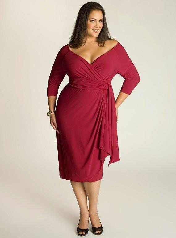 Wrap dress   Vestido envelope que favorece as gordinhas - Roupas para Gordinhas