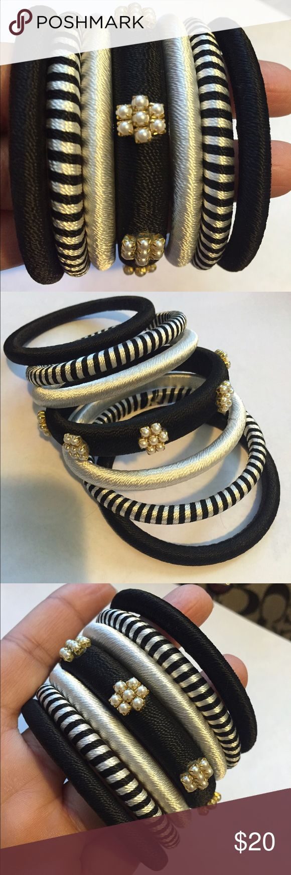 Silk Thread Bangles Beautiful handmade in India silk thread bangles. Individually wrapped with silk thread. You will receive 7 bangles. Gorgeous!! Jewelry Bracelets