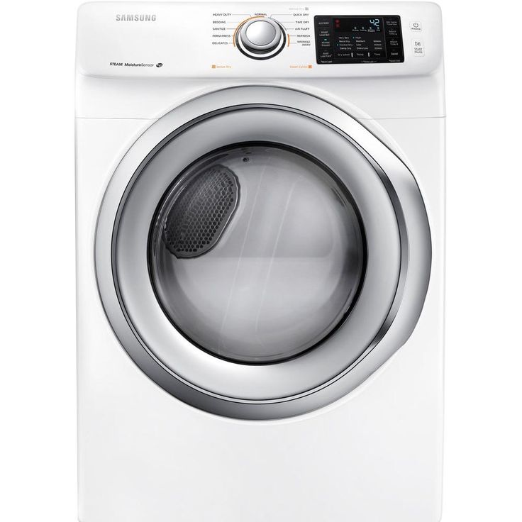 TOP RATED CR Samsung 7.5 cu. ft. Electric Dryer in White-DV42H5200EW - The Home Depot