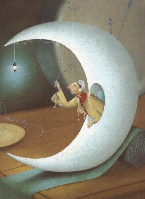 Turn off the Moon, Time to Sleep(il·lustració d'Eric Puybaret)