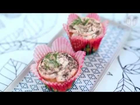 Musztardowe babeczki z kremem łososiowym - Allrecipes.pl - YouTube