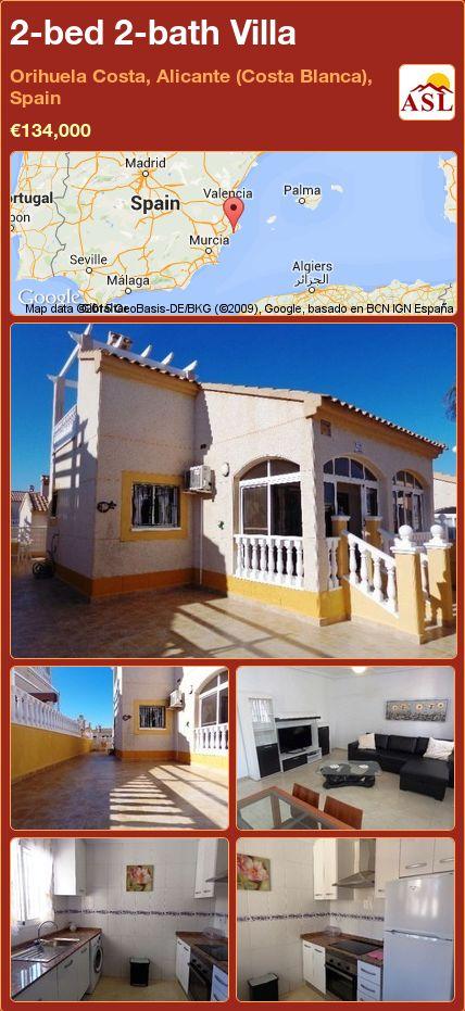 2-bed 2-bath Villa in Orihuela Costa, Alicante (Costa Blanca), Spain ►€134,000 #PropertyForSaleInSpain