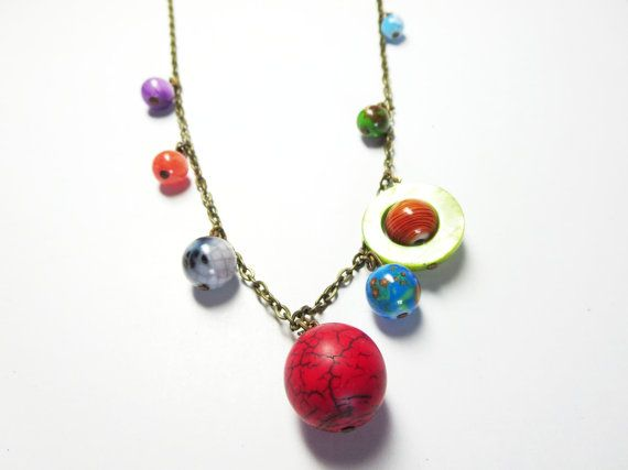 Planets Necklace Solar System  necklace  by BeautyJewelryGifts, $34.99