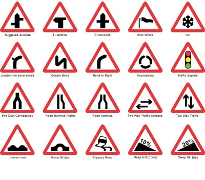 Road sign images are vital for learner drivers