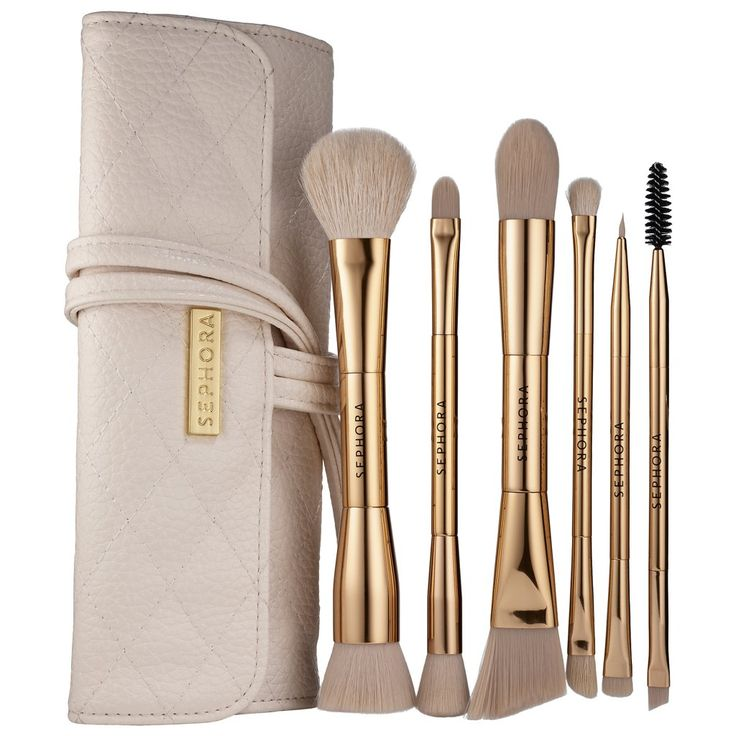 Finally, a brush set that's as luxe looking as it is high in quality. The set comes with five brushes fit for all your makeup applying needs and the packaging is oozing in rose-gold details, all held in a convenient travel case that's so chic and drool-worthy.