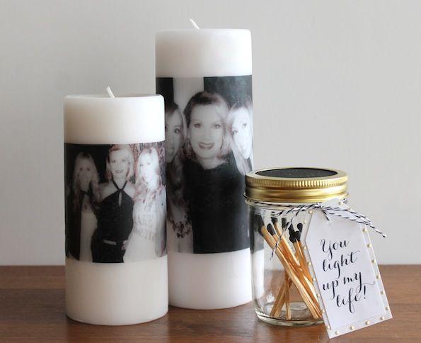 Wow, binnen een paar minuten maak jij deze schitterende kaars met foto-opdruk! Superleuk om als cadeau te geven!