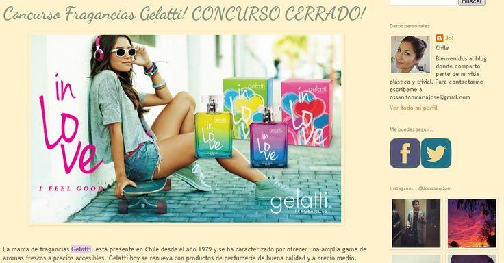 Cerrado. Concurso Gelatti In Love en el Blog de María José Ossandon que se llama La Vie en Plastique, gracias a todas por participar
