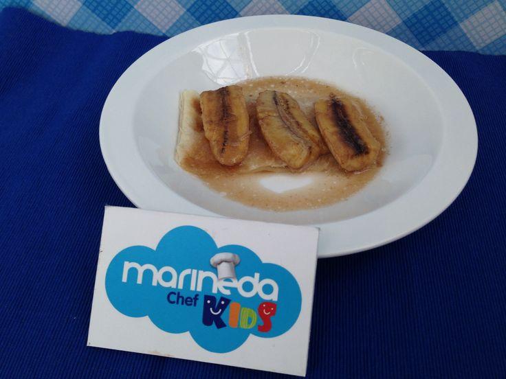 Plátano frito con Miel  #recetas #cocina #marinedacity #aprender #postres #repostería