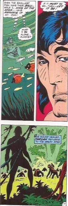 Tarzan's loneliness in the tribe of Great Apes Tarzan 213 October 1972