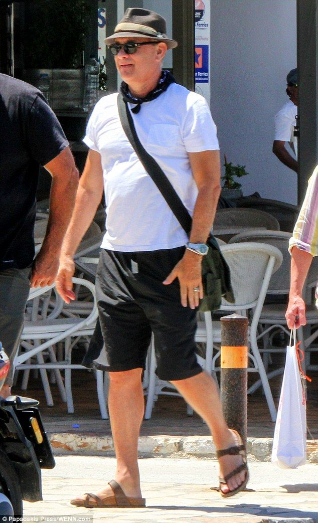 Fun in the sun! Tom Hanks and his beautiful spouse, Rita Wilson, looked in their element as their soaked up the sun on the Greek island of Antiparos, on Tuesday