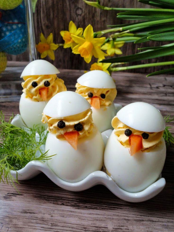 Pyry na Gaz: Kurczaczki - jajka faszerowane z curry