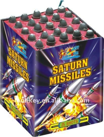 25 shots saturn missiles fireworks for wholesale $24~$26