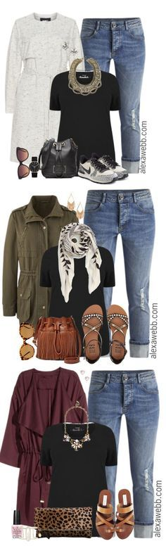 Plus Size Outfit Ideas - Plus Size Jeans and a Black Tee - Plus Size Fashion for Women - http://alexawebb.com /search/?q=%23alexawebb&rs=hashtag /search/?q=%23plus&rs=hashtag /search/?q=%23size&rs=hashtag