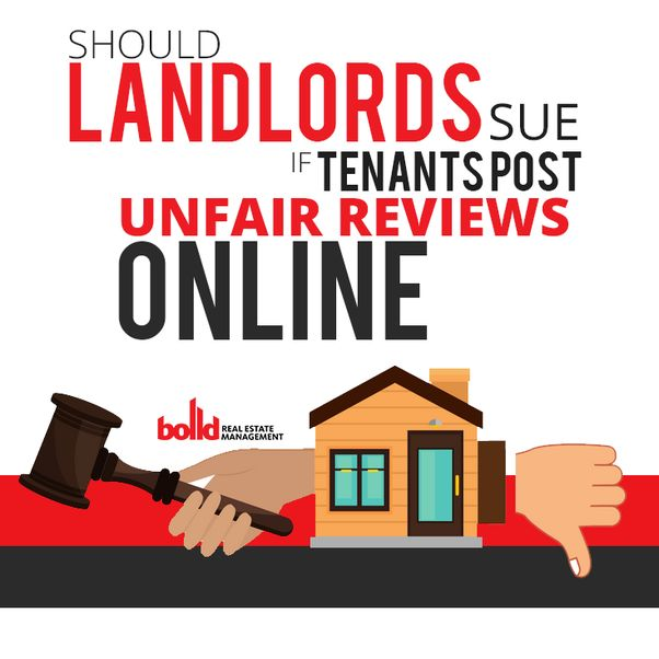 Should Landlords Sue If Tenants Post Unfair Rev Rent Quora Real Estate Investing Rental Property Being A Landlord Real Estate Rentals