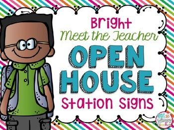 Start your school year with a meet the teacher open house!