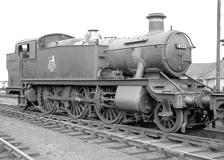 British Railways built 2-6-2T No 4176 stands on the road outside Leamington shed on 5th October 1963