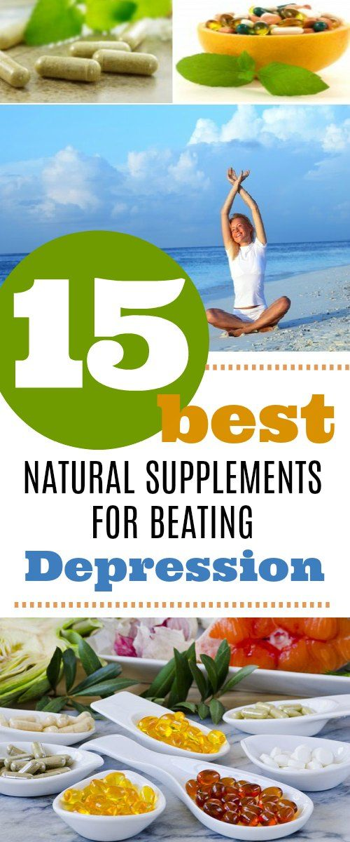 Beating depression naturally through these 15 natural supplements.  #natural remedies #depression