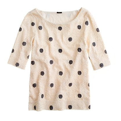 JCrew sequins and polka dots